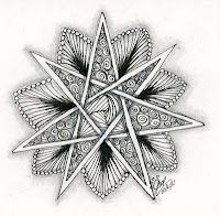 multiple star zentangle
