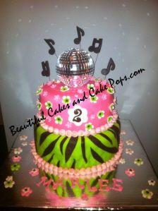 Disco ball -music cake