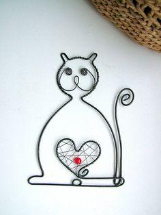Dekorácie - mačička - 5392531_
