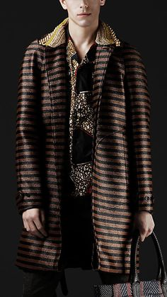 Burberry Prorsum Spring/Summer 2012 Raffia Jaquard Trench coat