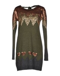 TWIN-SET Simona Barbieri Women's Short dress Military green M INT