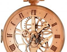 Ceas mecanic din lemn masiv model ceas de buzunar