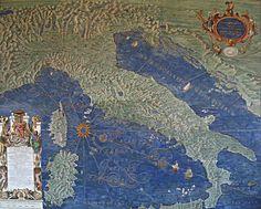 Mappa di Italia, di Corsica e Sardegna - Ignazio Danti - Galleria delle Carte Geografiche - Musei Vaticani