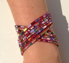 Sparkling Crystal Wrap Over Cuff