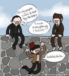 *snicker* Rather true... but I blame it on the writers. Matt Smith is fantastic (hehe), and *sniff* I'll be so sad to see him go. =,[
