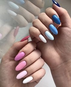 Want to know how to do gel nails at home? Learn the fundamentals with our DIY tutorial that will guide you step by step to professional salon quality nails. Summer Acrylic Nails, Best Acrylic Nails, Acrylic Nail Designs, Summer Nails, Fire Nails, Rainbow Nails, Gradient Nails, Dream Nails, Stylish Nails