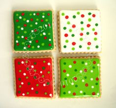 Simple, but effective Christmas cookies.