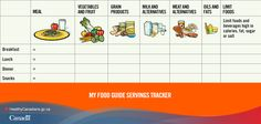 Check out this Canada Food Guide tracking sheet to ensure you and your family are getting enough fruits and veggies: http://www.canadiensensante.gc.ca/eating-nutrition/food-guide-aliment/index-eng.php?_ga=1.58571822.525080773.1393857104