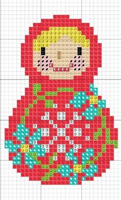 sandylandya.matryoshka cross stitch chart