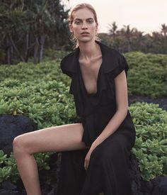 "WSJ April 2015 ""Island Dressing"" Model: Vanessa Axente  Photographer: Josh Olins  Stylist: Clare Richardson"