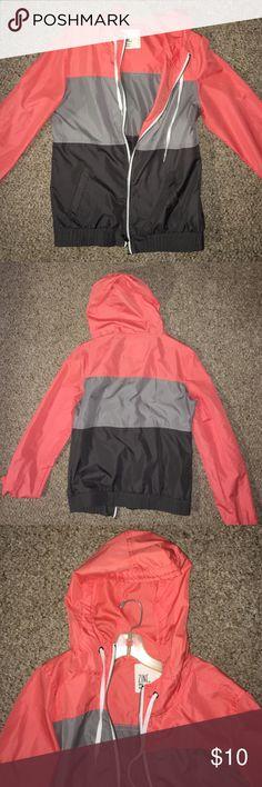 Cute rain jacket! Stylish rain jacket/ wind breaker. Only worn once!! In great condition Zine Jackets & Coats