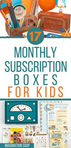 Best Monthly Subscription Boxes, Subscription Gifts, Monthly Boxes For Kids, Subscriptions For Kids, Kids Boxing, Gifts For Boys, 6 Years, Imagination, Soup
