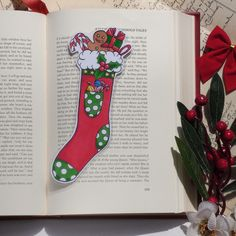 Excited to share this item from my #etsy shop: Christmas Stocking Bookmark, Christmas Bookmark, Christmas Stocking, Stocking Stuffer, Gifts for Readers, Red Stocking  #christmas #giftsforreaders #christmasstocking #stockingbookmark #bookmark Gifts For Readers, Altered Images, Stocking Stuffers, Bookmarks, Christmas Stockings, My Etsy Shop, Colours, Shapes, Holiday Decor
