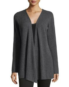Cashmere+Open-Front+Duster+Cardigan,+Obsidian+by+Minnie+Rose+at+Neiman+Marcus+Last+Call.