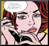 Ohhh...Alright..., 1964 Mounted Print by Roy Lichtenstein