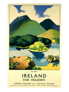 Vintage travel poster.  Love the greens and golds...