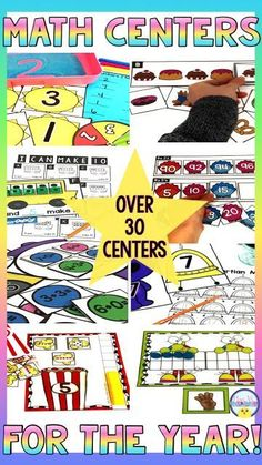 Kindergarten Math Centers for the Year: Hands on math activities for counting, n… - Modern Kindergarten Literacy Stations, Kindergarten Lessons, Kindergarten Classroom, Classroom Ideas, Phonics Lessons, Math Work, Word Work, Number Identification, First Grade Math