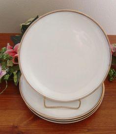 Four Royalton China Co Golden Elegance Dinner plates Translucent Porcelain Japan #RoyaltonChinaCo