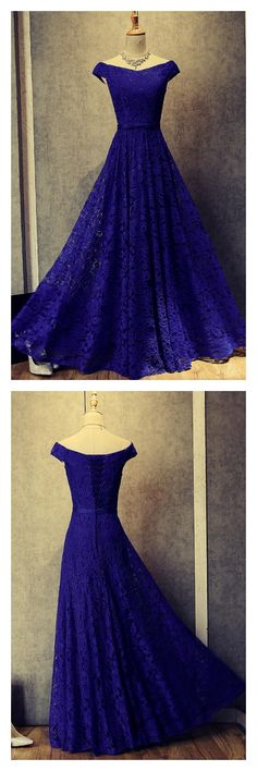 Royal Blue Prom Dress,Lace Prom Dresses,Long Prom Dress,Formal Prom Dress,Off Shoulder Evening Gowns Royal Blue Prom Dresses, Bridesmaid Dresses, Formal Dresses, Bridesmaid Ideas, Formal Prom, Royal Blue Gown, Royal Royal, Dresses Dresses, Light Purple Prom Dress