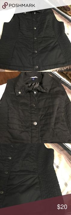 Puffer Vest Fully lined black vest. Snap button. Soft material. In great condition Bandolino Jackets & Coats Vests