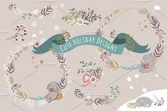 Cute Holiday Designs by Darish on @creativemarket