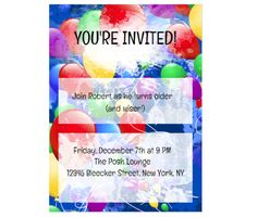 38 best invitation printables images on pinterest invitation cards download this balloons party invitation card and other free printables from myscrapnook stopboris Choice Image