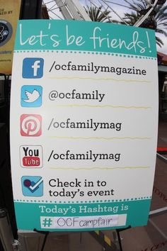 Social Media Signage at event Vendor Displays, Craft Fair Displays, Market Displays, Display Ideas, Vendor Table, Vendor Booth, Craft Show Booths, Craft Show Ideas, Marketing Program