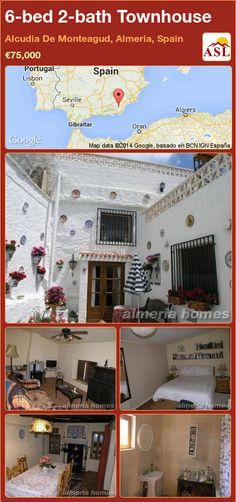 Townhouse for Sale in Alcudia De Monteagud, Almeria, Spain with 4 bedrooms, 2 bathrooms - A Spanish Life Portugal, Outdoor Bathrooms, Village Houses, Family Bathroom, Three Floor, Large Bedroom, Wine Cellar, Ground Floor, Living Area