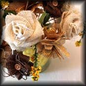 how to make burlap flowers button