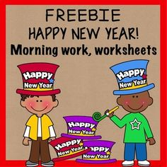 Do you need a New Year activity for your class when they get back from the holiday break? Here are three activities for your students to complete during morning work or as a way to welcome them back to school and back to the New Year. Included in this product: 1.