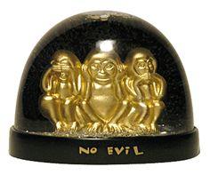 See No Evil, Hear No Evil, Speak No Evil  snow globe Monkeys