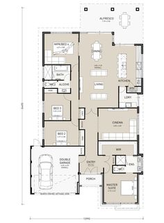 Sands Ultimate - Switch Homes New House Plans, Small House Plans, House Floor Plans, Australian House Plans, Single Storey House Plans, Circle House, Investment House, House Blueprints, Bedroom House Plans