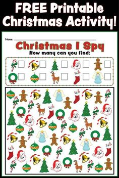Christmas I Spy FREE Printable Counting Activity