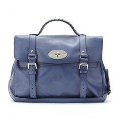 Mulberry Alexa bag in Midnight Blue as seen on Alessandra Ambrosio