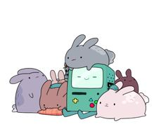 Adventure Time : BMO and bunnies