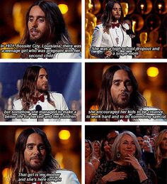 And more than anything, because he gushed about his mom: | 27 Reasons Jared Leto Was The Absolute Best Person During All Of Awards Season
