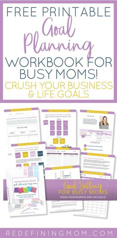 Free printable goal planning for busy moms workbook. Crush your business and life goals in 2018 goals free printable / 2018 goals planner / Yearly goals printable free / Yearly goals bullet journal / Business goal setting Goals Printable, Printable Planner, Free Printables, Printable Recipe, Planners, Goals Planner, 2018 Planner, Mom Planner, Goal Planning