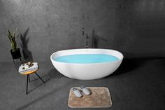 This elegant oval design freetanding bathtub by prodigg offers a wide internal laying space and great back confort. Perfect to relax and unwind. Istone bathtubs are easy to clean. Prodigg bathrooms, Sydney Australia with Delivery Australia wide. Square Bathtub, Small Bathtub, Stone Bathtub, Cast Iron Bathtub, Solid Surface, Relax, Bath Mat, Cleaning, Shapes
