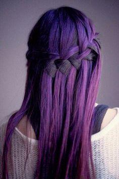 Immagine di hair, purple, and braid
