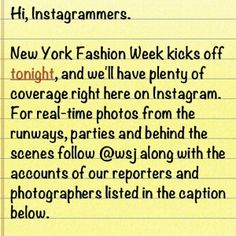 How the media can use Pinterest for  reporting. This one is from the Wall Street Journal covering Fashion Week.