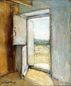 Henri Matisse - 1896, Porte ouverte. Open doors had a very special, metaphorical meaning for Matisse and he kept painting them all of his life