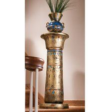 Egyptian Kings Pedestal Plant Stand