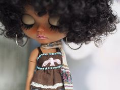 "RESERVED for ""Frankie"" Please don't BUY unless you're her : OOAK Custom Blythe by Another Blythe ""Foxy Brown"""