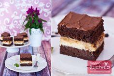 #ciasto snickers czyli pyszne ciasto czekoladowe z kremem z mascarpone i masła orzechowego @primavika, z masą krówkową i orzeszkami ziemnymi. Inspirowane smakiem batoników Snickers.  http://dorota.in/ciasto-snickers/  #kuchnia #deser #przepis #czekolada