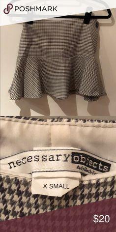 Miniskirt - size XS - herringbone pattern Miniskirt herringbone patterned Necessary Objects Skirts Mini