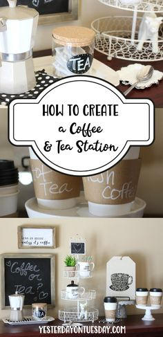 How to Create a Coffee and Tea Station, with lovely Modern Farmhouse Style finds from @HobbyLobby! #HobbyLobbyStyle #HobbyLobbyFinds #ad modern farmhouse   coffee   tea   decor   coffee station   tea station