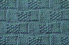 Knitting Galore: Basket Weave Moss Stitch