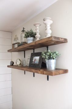 Affordable DIY Industrial Shelves