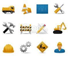 Construction Icon Set Royalty Free Stock Vector Art Illustration
