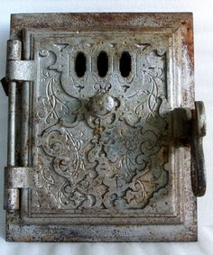 Very rustic decorative Cast IRON wood STOVE by cabinetocurios,